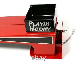 Red Toy Pulling Sled Skid, Tractor or Truck, 1/16 Scale, MADE IN USA, All Metal