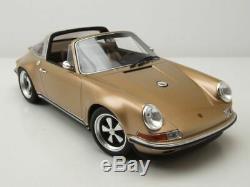 Singer Porsche 911 Targa 1995 gold metallic Modellauto 118 Cult Scale Models
