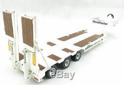 Tekno 72529 Goldhofer 3 Axle Drop Deck Extendable Trailer White Scale 150