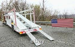 USA livery 6car trailer transporter 118 scale for Peterbilt 359 Road Kings