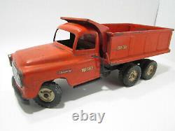 Vintage Tru Scale International Tandem Hydraulic Lift Dump Truck