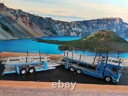 Wsi scania p6 flat roof 6x2 twin steer car transporter scale 1.50
